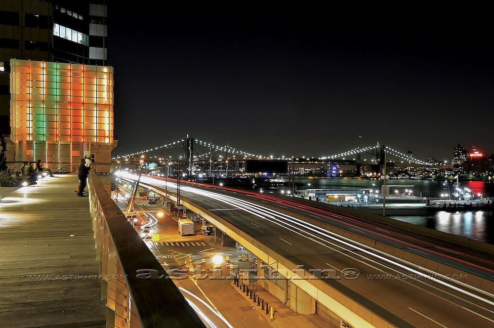 NEW YORK CITY WITH BROOKLYN BRIDGE.