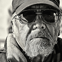 Homeless man in Taos New Mexico.