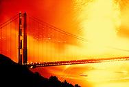 Golden Gate Bridge with 4th of July celebration, San Francisco, California