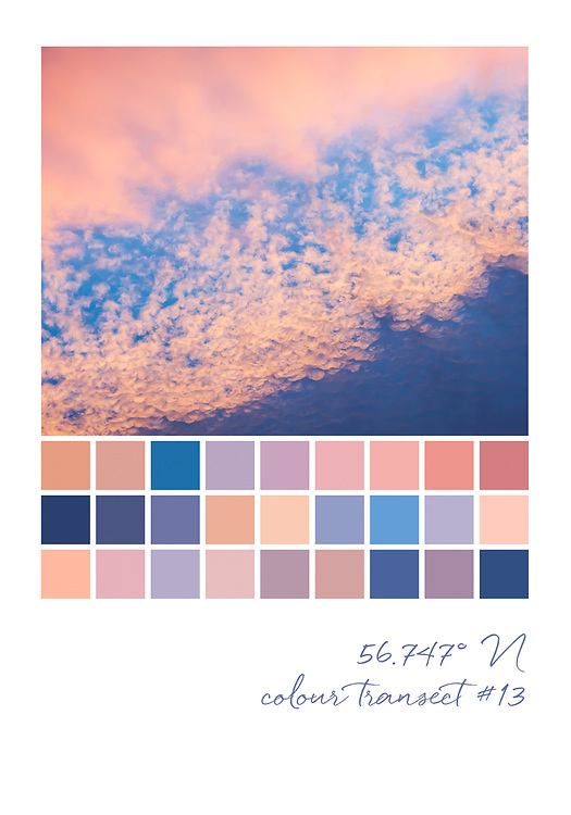 Colour transect #13, 56.747° N