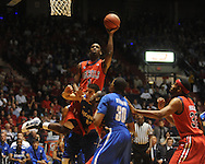 "Mississippi's Terrance Henry (1) shoots vs. Memphis in NIT second round basketball action at the C.M. ""Tad"" Smith Coliseum in Oxford, Miss. on Friday, March 19, 2010. Ole Miss won 90-81."