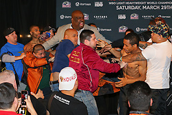 Mar 28, 2014; Atlantic City, NJ, USA; Images from the HBO Boxing after Dark weigh-in's featuring Sergei Kovalev vs Cedric Agnew and Thomas Dulorme vs Karim Mayfield.   Mandatory Credit: Ed Mulholland/HBO