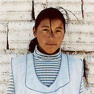 Bolivia, Uyuni. Girls working on Uyuni Salt Lake in Bolivia All miners working in the Salar belong to Colchani's cooperative. <br /> Photo&copy;AmayaRoman/Workers'Photos
