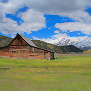 Mormon Row Barn Wide- Grand Tetons, WY - Lensbaby
