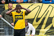 BREDA - NAC Breda - Roda JC , Rat Verlegh stadion , Voetbal , Finale play-offs , seizoen 2014/2105 , 31-05-2015 , NAC Breda speler Guyon Fernandez baalt van gemiste kans