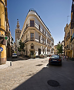 Sevilla Spain narrow streets of old town photo Piotr Gesicki