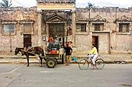 Gravel delivery in Moron, Ciego de Avila, Cuba.
