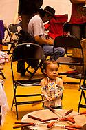 Powwow, kids, Assiniboine Sioux, American Indian Council Powwow, Montana State University, Montana.