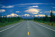 View of Wrangell Mountains from Glenn Highway<br /> Alaska