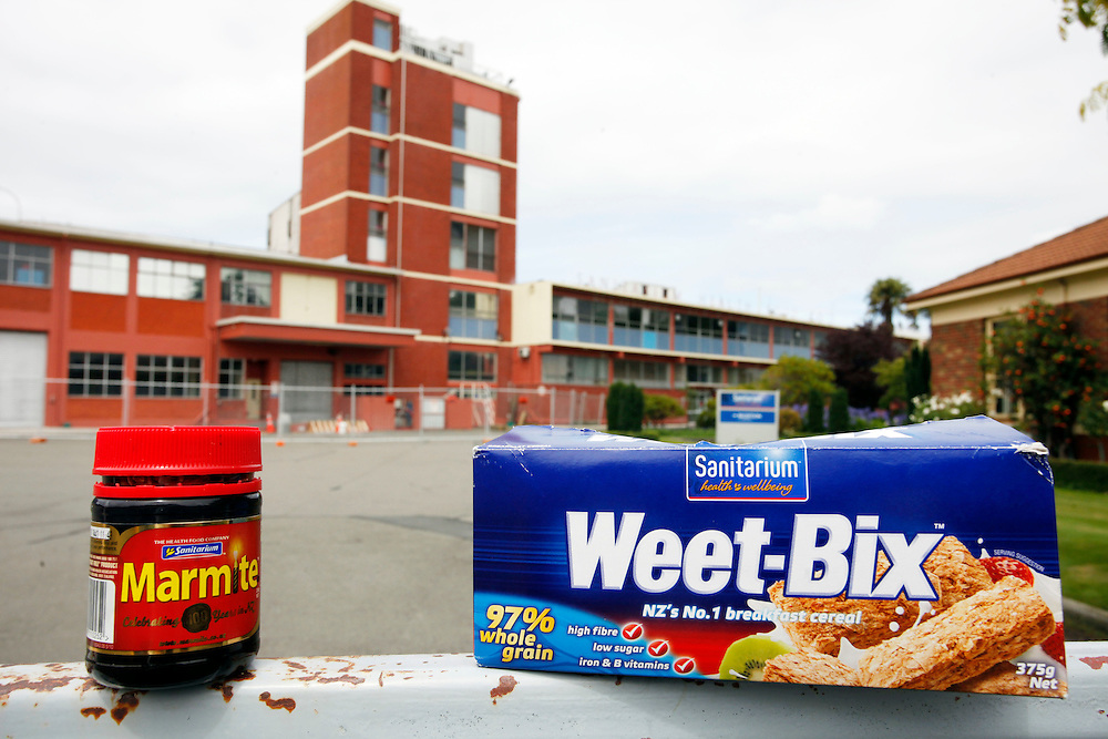 Sanitarium Health Food Company, manufacturers of Marmite and Weet-Bix are on the move as the earthquake damaged factory is demolished, Christchurch, New Zealand, Thursday, February 2, 2012.  Credit:SNPA / Pam Johnson