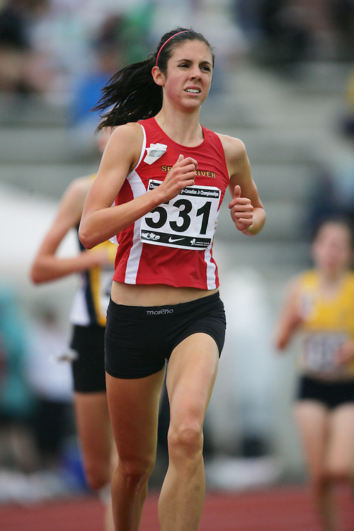 (Charlottetown, Prince Edward Island -- 20090718) Lauren Doherty of Speed River Track & Field competes in the 3000m finals at the 2009 Canadian Junior Track & Field Championships at UPEI Alumni Canada Games Place on the campus of the University of Prince Edward Island, July 17-19, 2009.  Geoff Robins / Mundo Sport Images ..Mundo Sport Images has been contracted by Athletics Canada to provide images to the media.