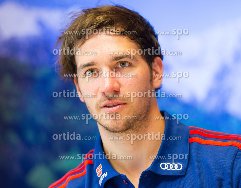 17.07.2013, Riessersee Hotel, Garmisch Partenkirchen, GER, DSV, Medientermin Herren, im Bild DSV Skirennlaeufer Felix Neureuther // german Ski racer Felix Neureuther during a the men Media Event of German Ski Association at Riessersee Hotel, Garmisch Partenkirchen, Germany on 2013/07/17
