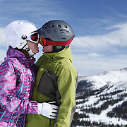 SHOT 2/14/11 12:44:50 PM - Loveland Ski Area in Colorado hosted the 20th Annual Marry Me & Ski Free Mountaintop Matrimony on Valentine's Day Monday, February 14th. The mass wedding ceremony was held at noon at 12,050 feet outside of the Ptarmigan Roost Cabin at Loveland. More than 75 couples were pre-registered to get married or renew their vows high on The Continental Divide in this yearly Loveland tradition.  Following the ceremony couples were invited to a casual reception complete with a champagne toast, wedding cake and music.  (Photo by Marc Piscotty / © 2010)