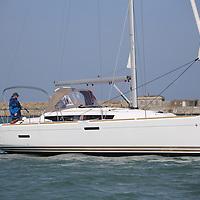 Jeanneau Sun Odysssey 379 on Dublin Bay. Photo: David O'Brien