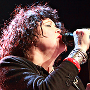 Exene Cervenka of X performs on December 31, 2010  at the Moore Theatre in Seattle, WA