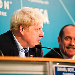 London, UK - 9 August 2012: Mayor Boris Johnson speaks during the Press Conference 'Delivering a lasting legacy from the London 2012 Games' at the London Media Centre.