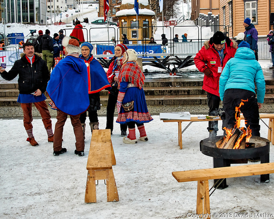 """""""Hot Pants"""" Sunday outdoor market/festival . Winter walkabout in Tromsø, Norway. Image taken with a Nikon 1 V2 camera and 18.5 mm f/1.8 lens (ISO 180, 18.5 mm, f/2.8, 1/500 sec)."""