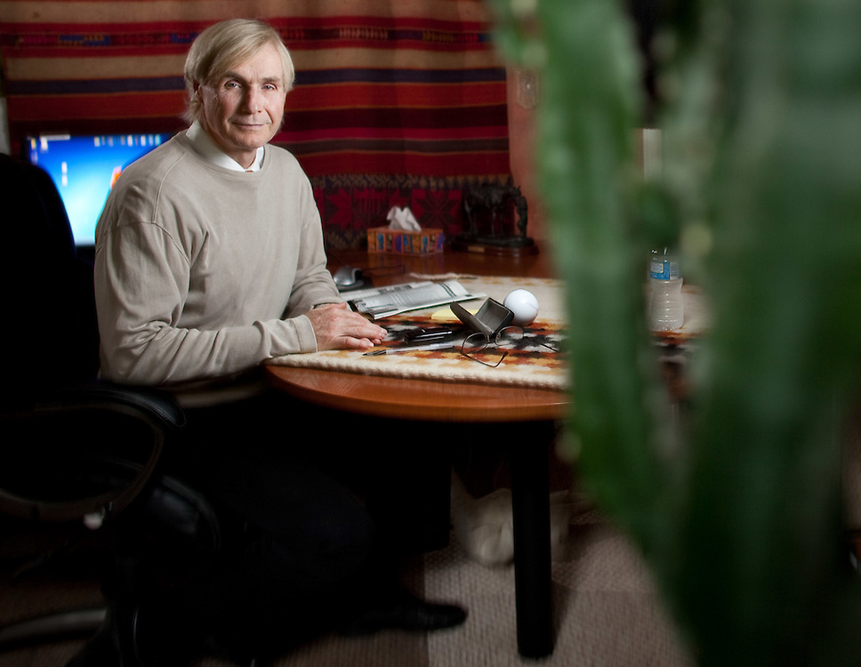 Woodstock, Ontario ---11-09-29--- Dr. Scott Seagrist sits in his home office in Woodstock, Ontario, September 29. 2011. Dr Seagrist who runs an obesity practice in Woodstock and Kitchener is in a legal dispute with his former business associate Dr. Stanley Bernstein.<br /> GEOFF ROBINS The Globe and Mail