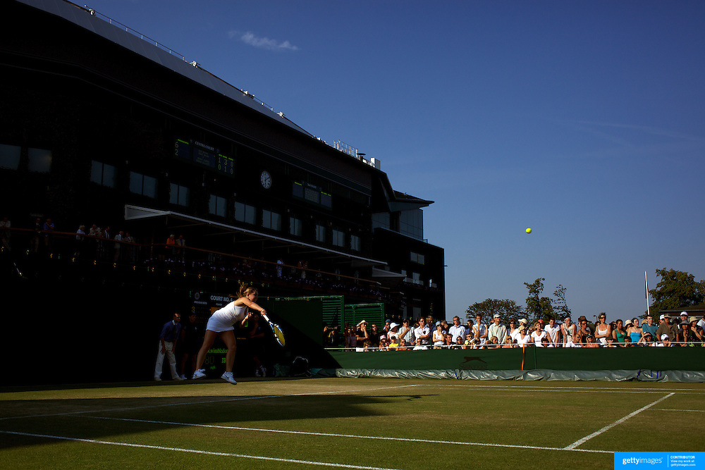 Sally Peers, Australia, in action against Laura Robson, Great Britain, in the Girls Singles Competition at the All England Lawn Tennis Championships at Wimbledon, London, England on Tuesday, June 30, 2009. Photo Tim Clayton..
