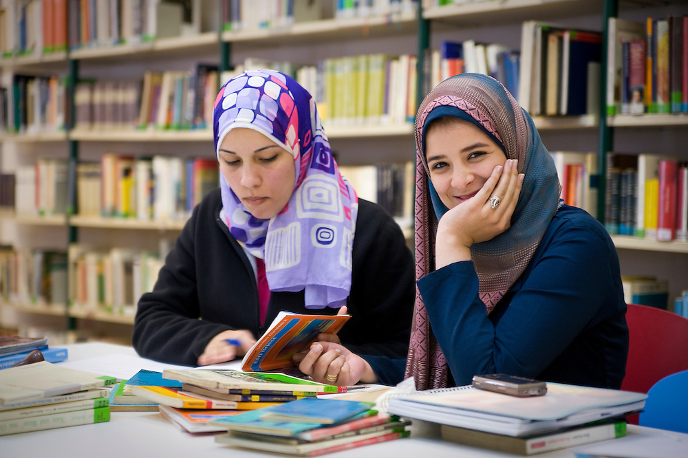 EGYPT, CAIRO: The library of the German Goethe Institute, a culture and language institute is frequented by many Egyptian students to study.