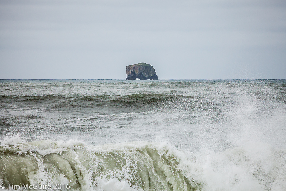 Cake Rock as seen from Rialto Beach on the Olympic Penninsula Coastal Strip National Park.