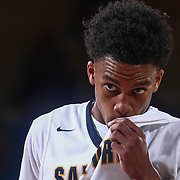 Sanford Warriors Guard MIKEY DIXON (3) prepares attempts a free throw in the first half of a Boys Basketball DIAA State Tournament Finals match between the Sanford Warriors and the St. Georges Hawks Saturday, Mar. 12, 2016, at The Bob Carpenter Sports Convocation Center in Newark, DEL.