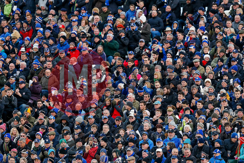 Bath fans - Mandatory byline: Rogan Thomson/JMP - 21/11/2015 - RUGBY UNION - The Recreation Ground - Bath, England - Bath Rugby v Leinster Rugby - European Rugby Champions Cup.