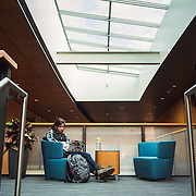 A student prepare for final exams in the Hemmingson Center. (Photo by Gonzaga University).