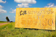 Revolutionary sign in San Felipe, Mayabeque, Cuba.
