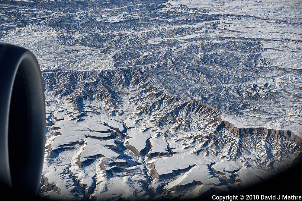 America from the sky. Transcontinental flight from San Francisco to New Jersey. Image taken with a Nikon D3x camera and 50 mm f/1.4 lens <br /> <br /> Utah