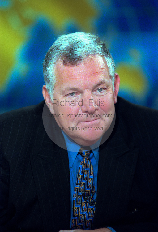 William Bennett, founder of Empower America discusses the possible Senate trial of President Clinton following his impeachment by the House during NBC's Meet the Press December 27, 1998 in Washington, DC.