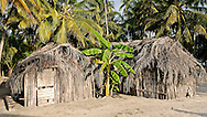 Traditional Kuna house. San Blas Islands