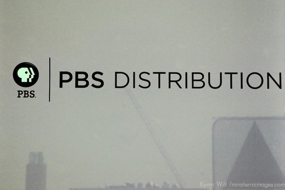 USA, Massachusetts, Boston. PBS Distribution center at WGBH Studios.