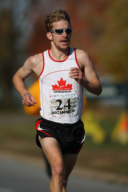 (Ottawa, ON---18 October 2008) MATTHEW MCINNES competes in the 2008 TransCanada 10km Canadian Road Race Championships. Photograph copyright Sean Burges/Mundo Sport Images (www.msievents.com).