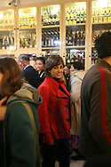 Katia Guerreiro in traditional pastry shop of Pasteis de Belem , in Lisbon. Fado singer Katia Guerreiro is one of the young singers generation  that are bringing a new strenght to this traditional kind of portuguese music.