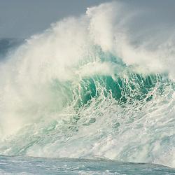 Huge wave crashing against the shoreline, Tsitsikamma Marine Protected Area, Garden Route National Park, Eastern Cape, South Africa,