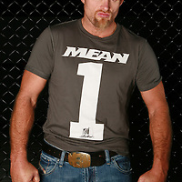 "MMA - UFC: Keith ""The Dean of Mean"" Jardine poses with T-shirt from his Mean Style clothing line,."