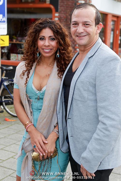 NLD/Amsterdam/20110925 - Benefietavond Red Sun Stichting Stop Kindermisbruik, Najib Amhali en partner Niama