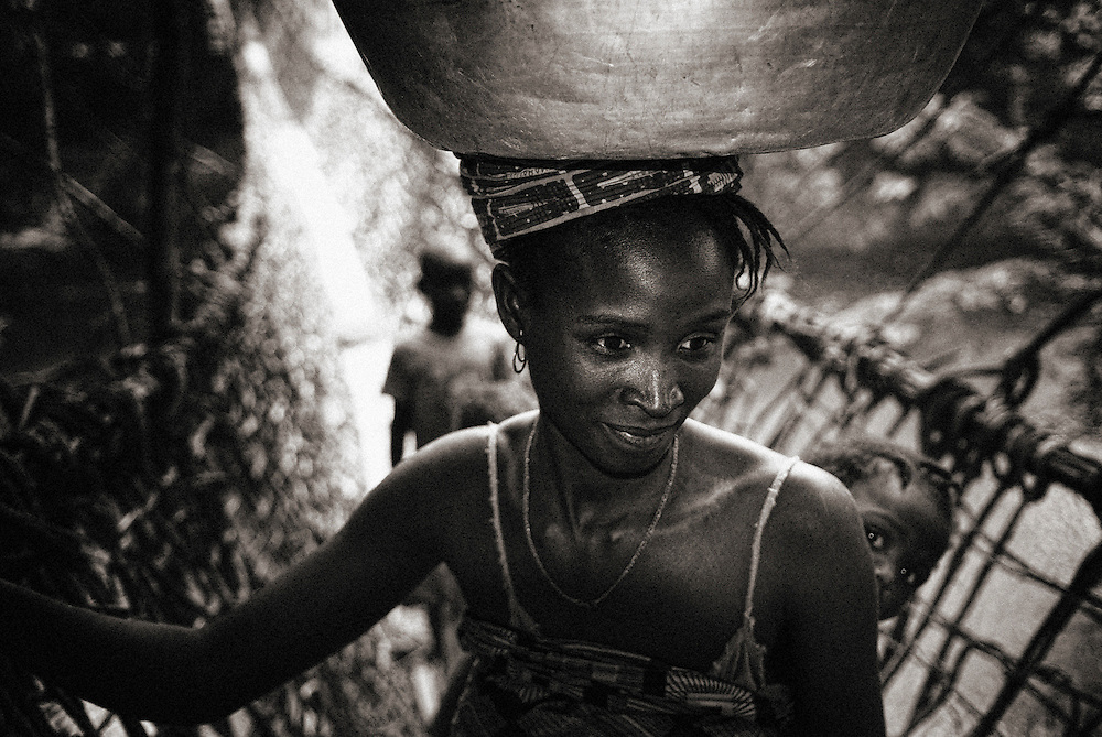 Guinea Conakry near bridge made of creepers
