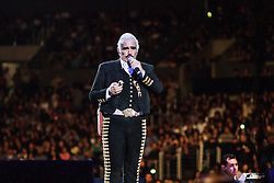 "Los Angeles, CA/USA (Sunday, March 24, 2013) -  The king of rancheras music and Mexican icon Vicente Fernandez kept his fans applauding, dancing and singing to classic rancheras such as: ""Volver y volver, me voy a quitar de en medio, si nos dejan, Mejico lindo, Guadalajara among others"" on Sunday, March 24 at the Staples Center in Los Angeles, CA. Don Vicente, also known as ""Chente"" performed for about two hours to a sold out performance.  PHOTO © Eduardo E. Silva/SILVEX.PHOTOSHELTER.COM."