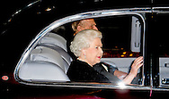 7-11-2015 LONDON - HM the Queen Elizabeth and Prince Philip arrival to the Festival of Remembrance in the Royal Albert Hall . COPYRIGHT ROBIN UTRECHT