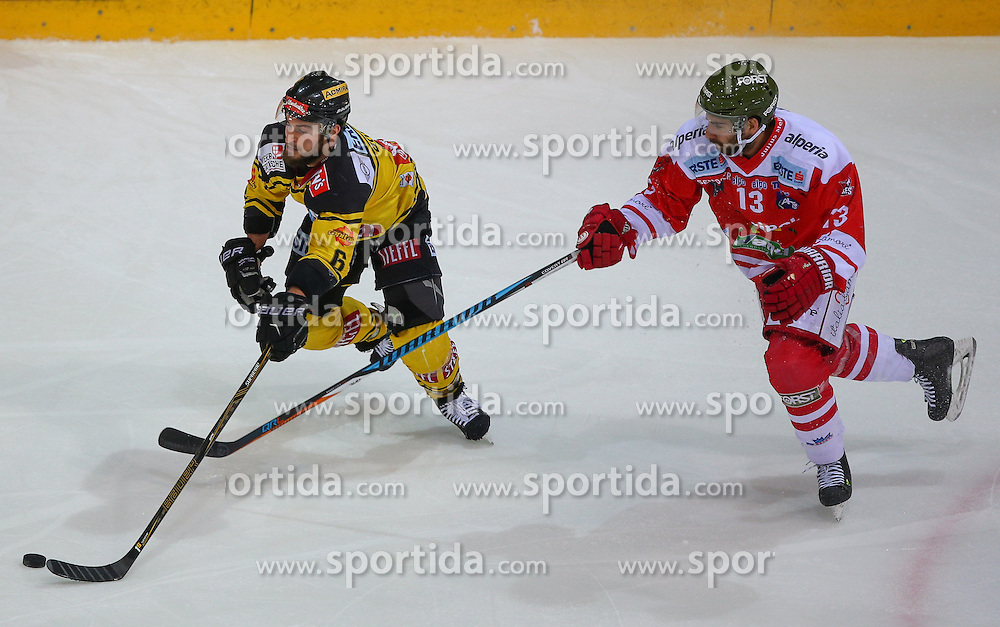 02.12.2016, Albert Schultz Halle, Wien, AUT, EBEL, UPC Vienna Capitals vs HCB Suedtirol Alperia, 25. Runde, im Bild David Rotter (UPC Vienna Capitals) und Travis Oleksuk (HCB Suedtirol Alperia) // during the Erste Bank Icehockey League 25th Round match between UPC Vienna Capitals and HCB Suedtirol Alperia at the Albert Schultz Ice Arena, Vienna, Austria on 2016/12/02. EXPA Pictures © 2016, PhotoCredit: EXPA/ Thomas Haumer