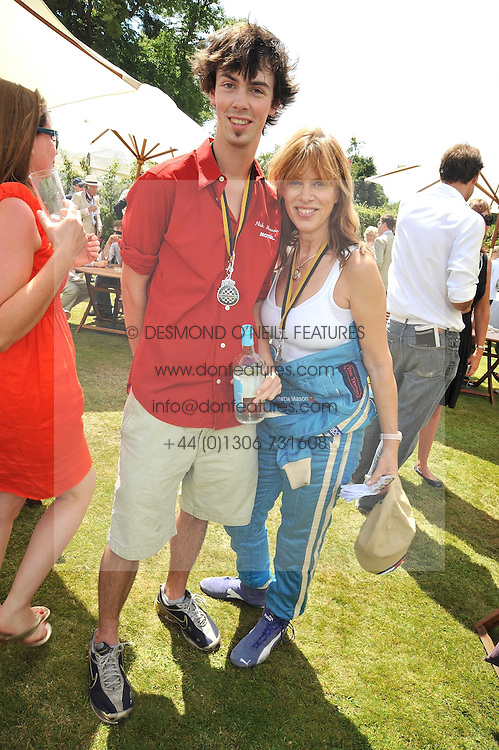 GUY MASON and his mother NETTE MASON at a luncheon hosted by Cartier for their sponsorship of the Style et Luxe part of the Goodwood Festival of Speed at Goodwood House, West Sussex on 5th July 2009.