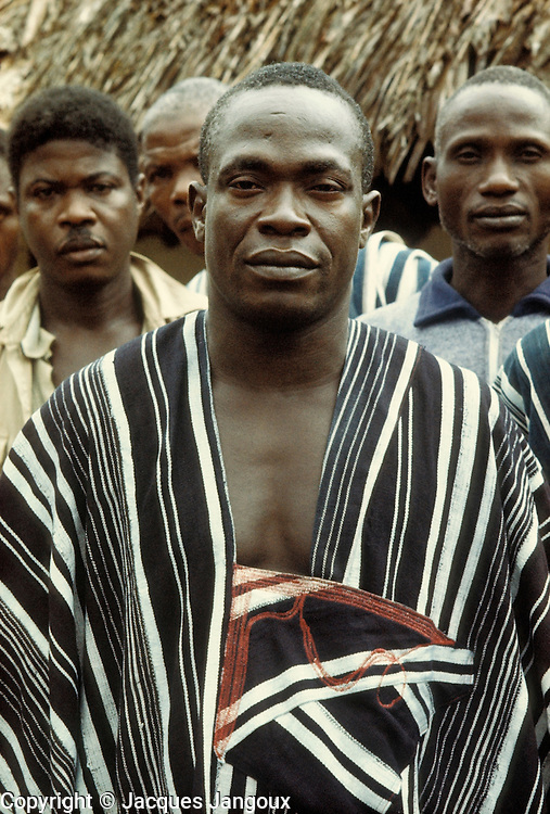 Village chief of Kpelle tribe, Liberia, West Africa