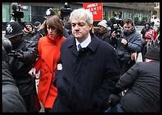 MAR 11 2013 Chris Huhne and Vicky Pryce arriving for sentencing