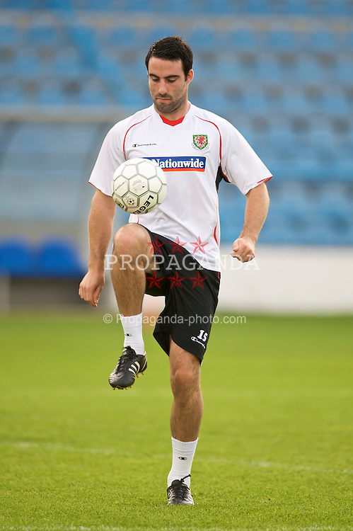 PODGORICA, MONTENEGRO - Tuesday, August 11, 2009: Wales' Craig Morgan during a training session at the Gradski Stadion ahead of the international friendly match against Montenegro. (Photo by David Rawcliffe/Propaganda)