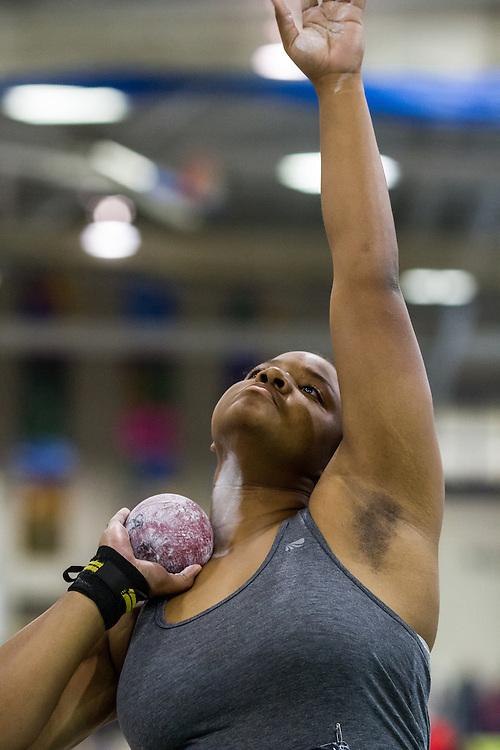 USATF Indoor Track & Field Championships: womens shot put, Brittany Cox