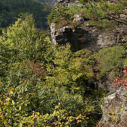 """The Breaks Interstate Park on the Virginia-Kentucky border (Virginia side)  It overlooks the Russell Fork River in a gorge 1730 feet deep. Daniel Boone is credited with discovering The Breaks in 1767 as he attempted to find ever-improved trails into Kentucky and the Ohio River Valley beyond. Passes through these rugged mountains were called """"breaks"""" by early settlers. The Breaks was one of only a handful of narrow passageways through 125-mile-long Pine Mountain.Virginia Scenics, Southwest Virginia.."""