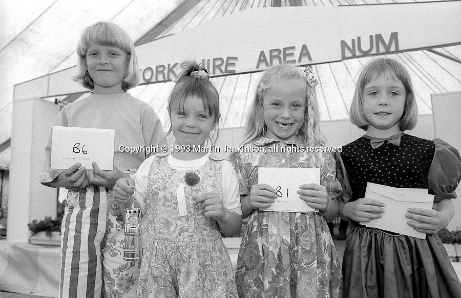 Miss Miner's Lamp 5 to 7 years. 1993 Yorkshire Miner's Gala. Wakefield.