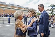 Prinses Beatrix der Nederlanden is maandagmiddag 30 mei 2016 aanwezig bij de opening van de tentoons